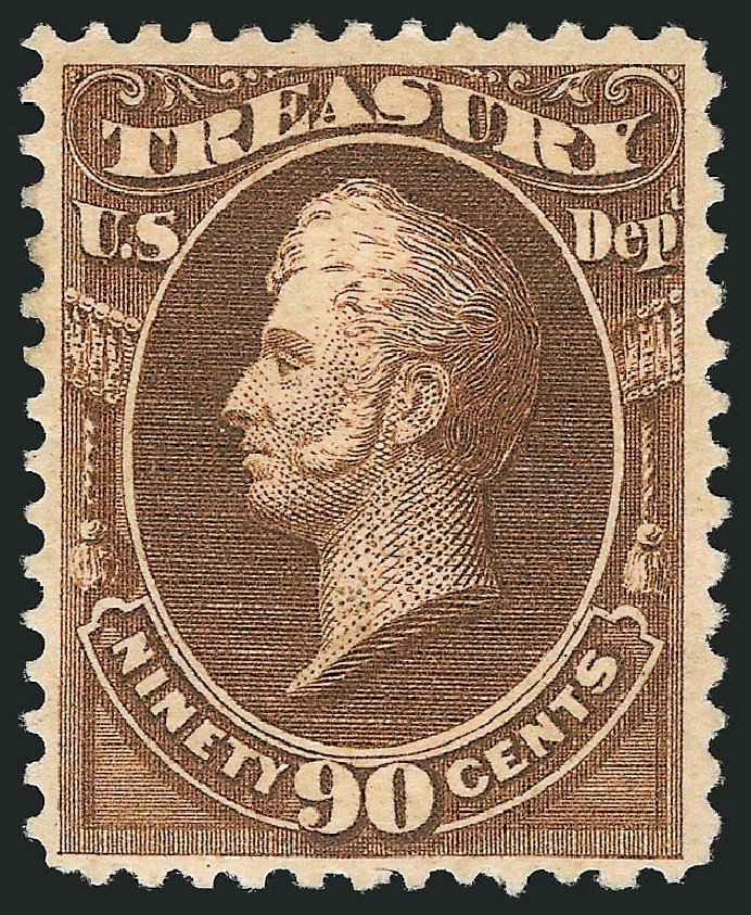 US Stamps Prices Scott Cat. O113 - 90c 1879 Treasury Official. Robert Siegel Auction Galleries, Feb 2015, Sale 1092, Lot 1469