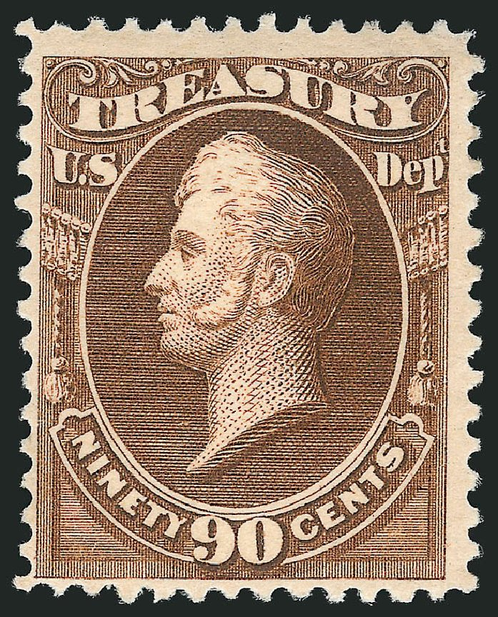 Cost of US Stamps Scott Cat. # O113: 90c 1879 Treasury Official. Robert Siegel Auction Galleries, Mar 2014, Sale 1067, Lot 1731