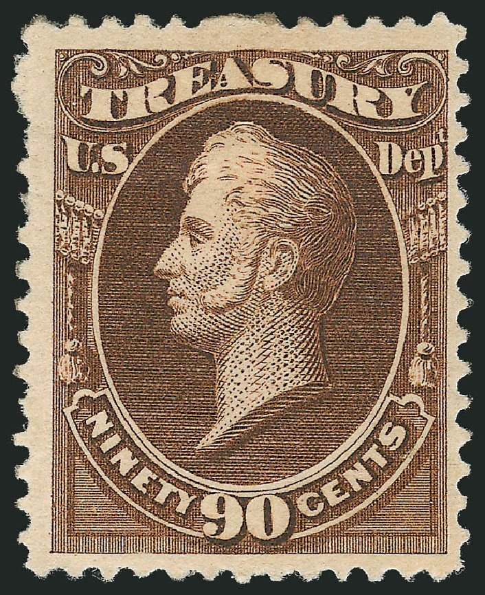 Costs of US Stamps Scott # O113: 90c 1879 Treasury Official. Robert Siegel Auction Galleries, Nov 2013, Sale 1061, Lot 4194