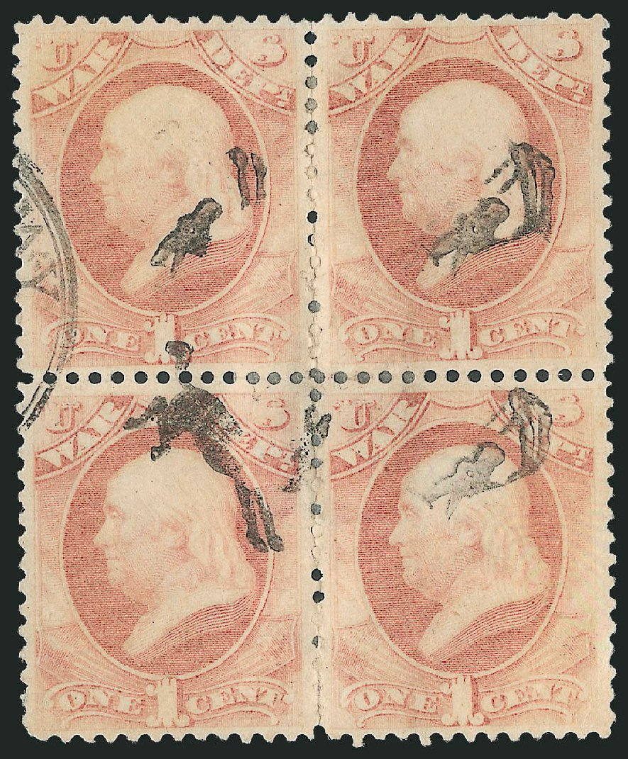 Cost of US Stamps Scott # O114 - 1c 1879 War Official. Robert Siegel Auction Galleries, Dec 2010, Sale 1003, Lot 5485