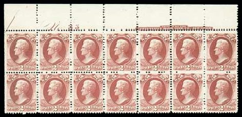 US Stamp Values Scott Cat. #O115 - 2c 1879 War Official. Matthew Bennett International, Dec 2007, Sale 325, Lot 2515