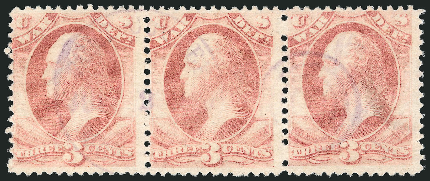 Value of US Stamps Scott Cat. # O116 - 1879 3c War Official. Robert Siegel Auction Galleries, Nov 2014, Sale 1085, Lot 4208