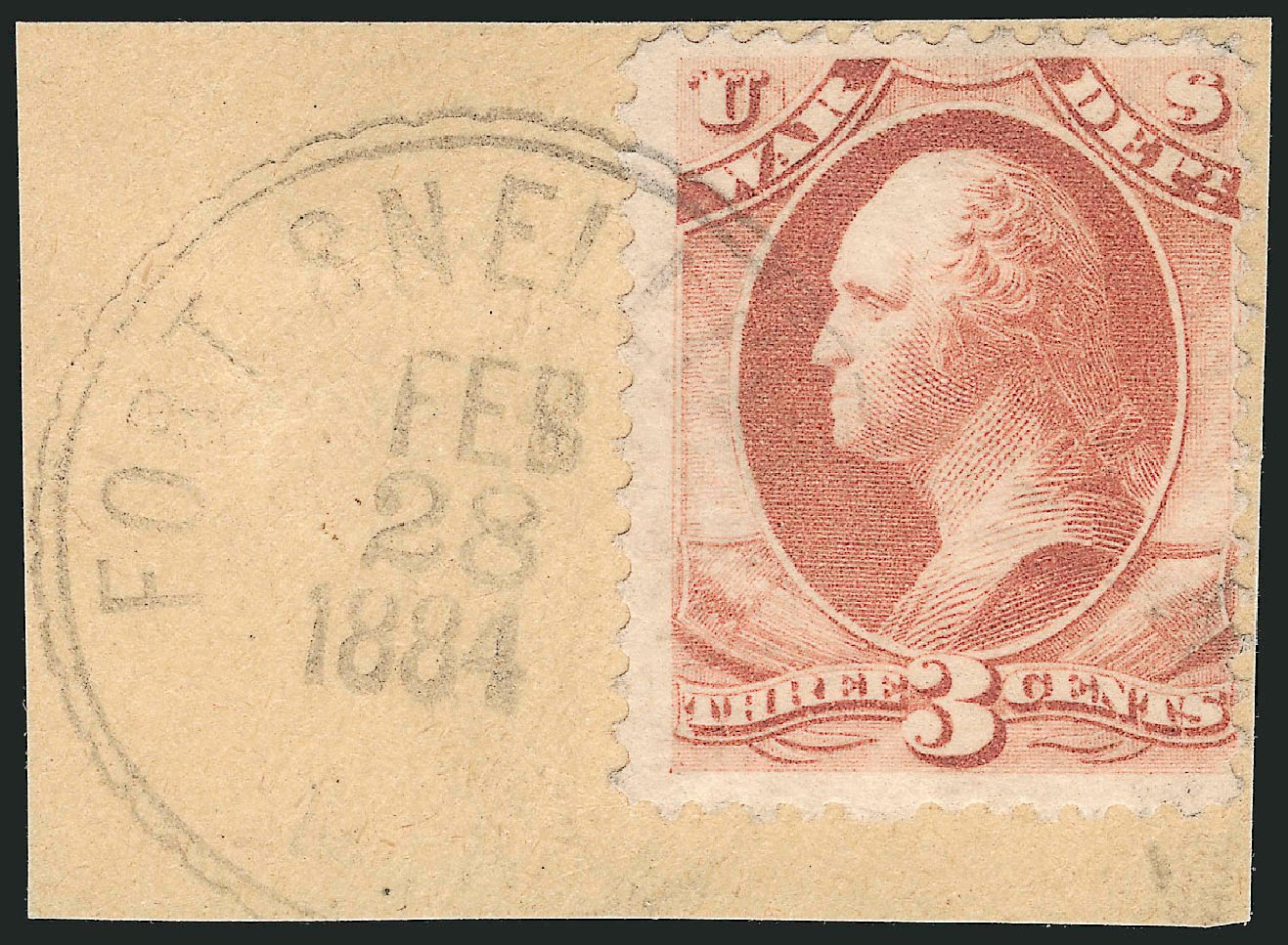 Prices of US Stamp Scott Cat. O116 - 3c 1879 War Official. Robert Siegel Auction Galleries, Nov 2014, Sale 1085, Lot 4209