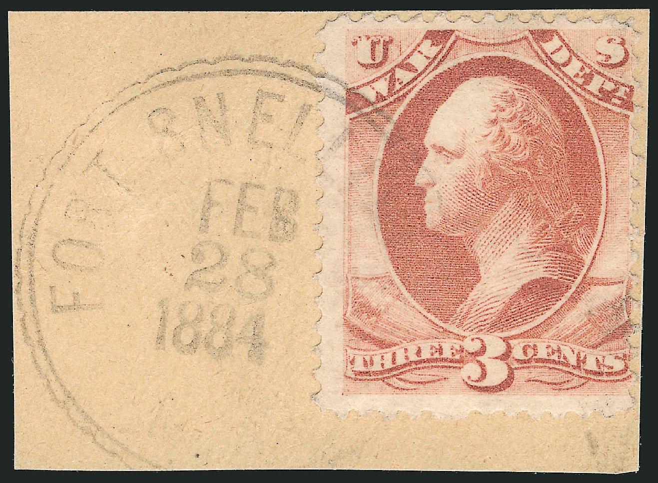 Costs of US Stamps Scott Catalog # O116: 1879 3c War Official. Robert Siegel Auction Galleries, Jun 2015, Sale 1100, Lot 119