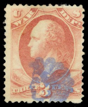 Cost of US Stamps Scott Cat. # O116: 3c 1879 War Official. Daniel Kelleher Auctions, Sep 2014, Sale 655, Lot 891