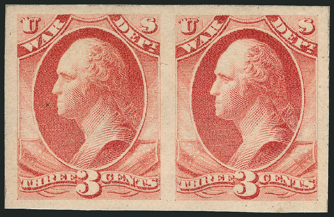 Cost of US Stamp Scott Catalogue #O116: 1879 3c War Official. Robert Siegel Auction Galleries, Dec 2010, Sale 1003, Lot 5451