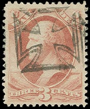 Costs of US Stamps Scott Cat. # O116 - 3c 1879 War Official. H.R. Harmer, Oct 2014, Sale 3006, Lot 1532