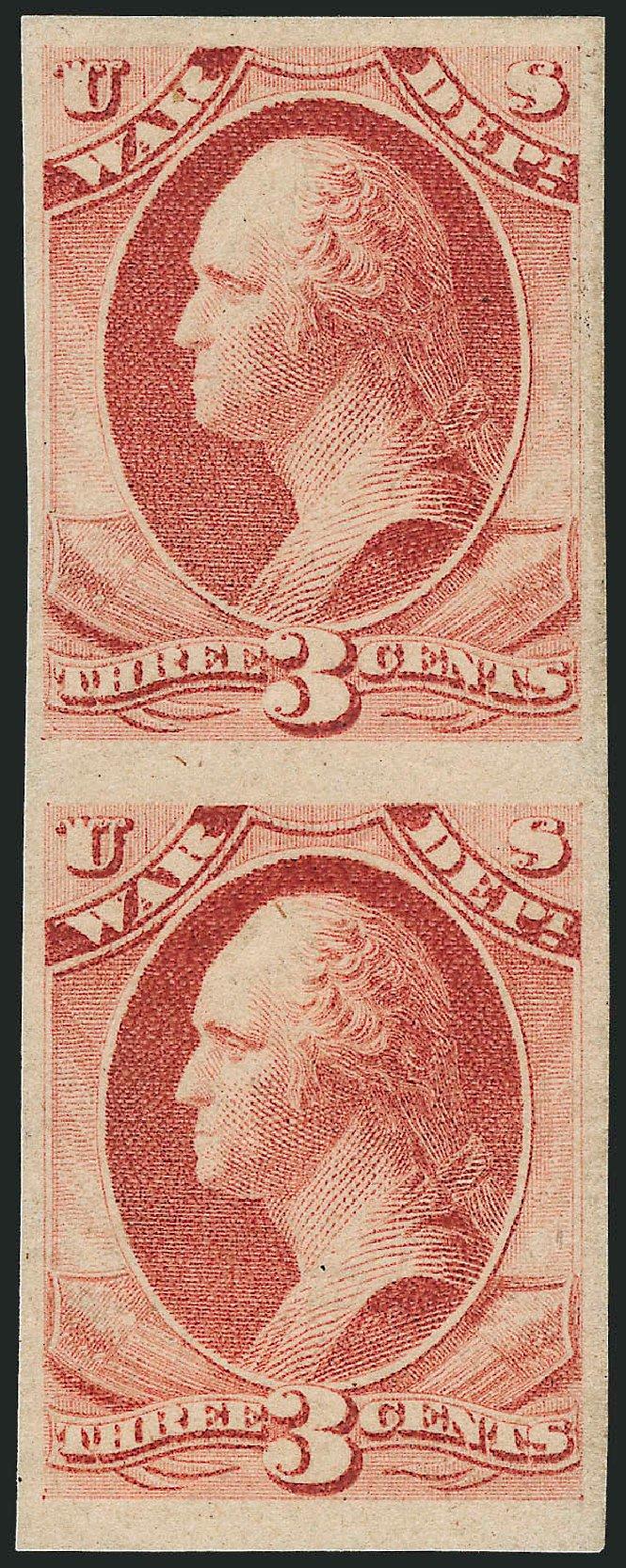 US Stamp Values Scott Catalogue #O116: 3c 1879 War Official. Robert Siegel Auction Galleries, Dec 2010, Sale 1003, Lot 5452