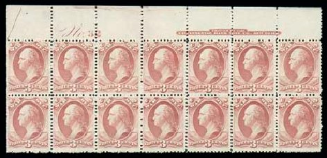 US Stamp Values Scott #O116 - 3c 1879 War Official. Matthew Bennett International, Dec 2007, Sale 325, Lot 2516