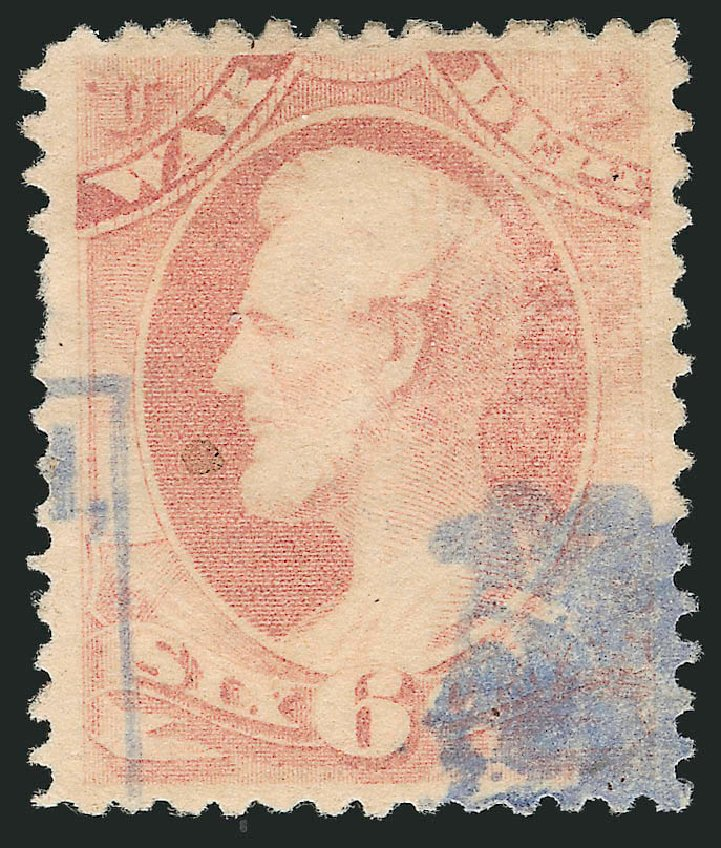 Values of US Stamp Scott Catalogue O117 - 1879 6c War Official. Robert Siegel Auction Galleries, Nov 2014, Sale 1085, Lot 4210