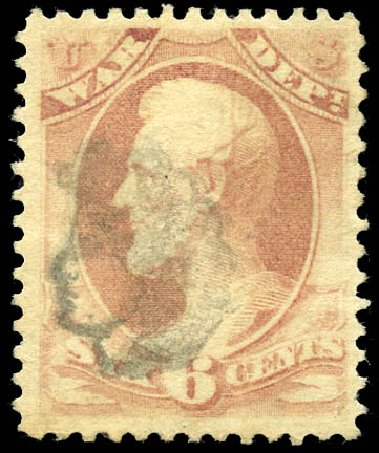 Value of US Stamp Scott Cat. #O117: 6c 1879 War Official. Matthew Bennett International, Sep 2011, Sale 338, Lot 2065
