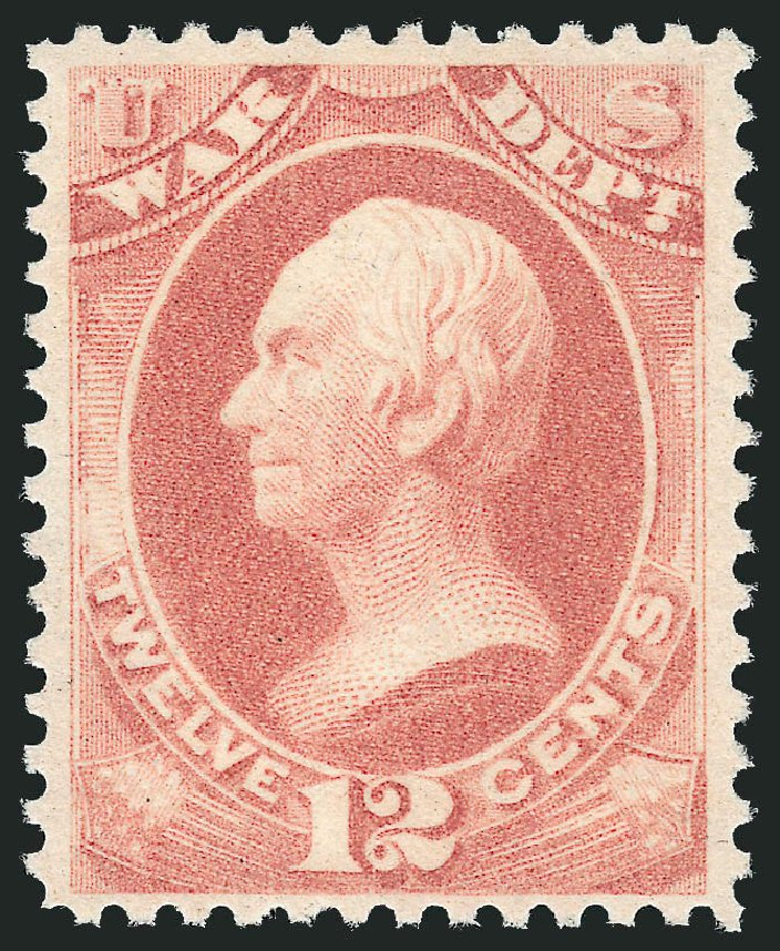 Costs of US Stamp Scott # O119: 1879 12c War Official. Robert Siegel Auction Galleries, Feb 2015, Sale 1092, Lot 1470