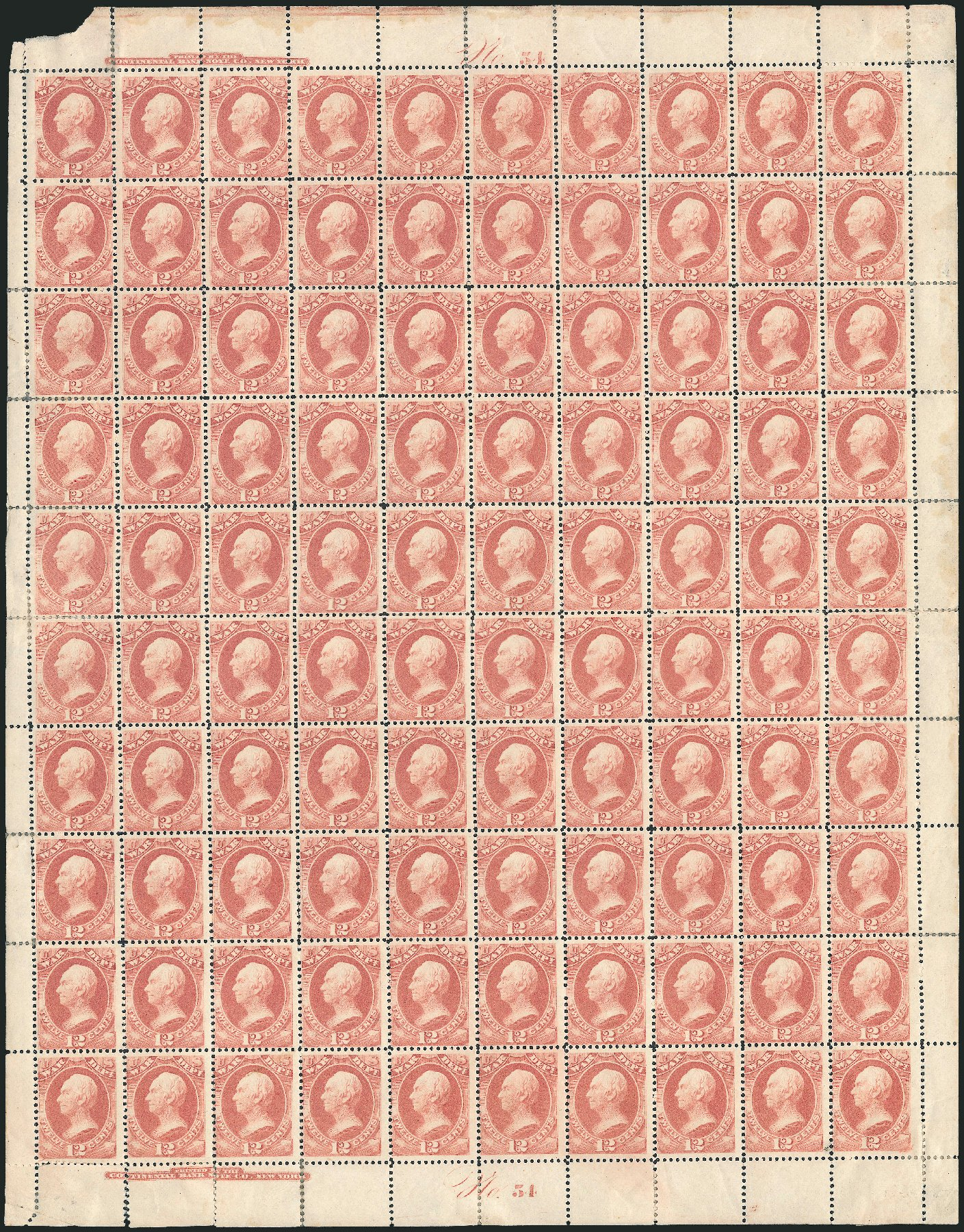 Price of US Stamp Scott Catalog # O119 - 12c 1879 War Official. Robert Siegel Auction Galleries, Dec 2010, Sale 1003, Lot 5463