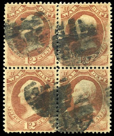 Values of US Stamp Scott Cat. # O119: 1879 12c War Official. Matthew Bennett International, Sep 2011, Sale 338, Lot 2066
