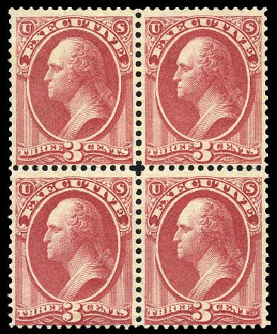 US Stamps Value Scott O12: 3c 1873 Executive Official. Matthew Bennett International, Mar 2011, Sale 337, Lot 3169
