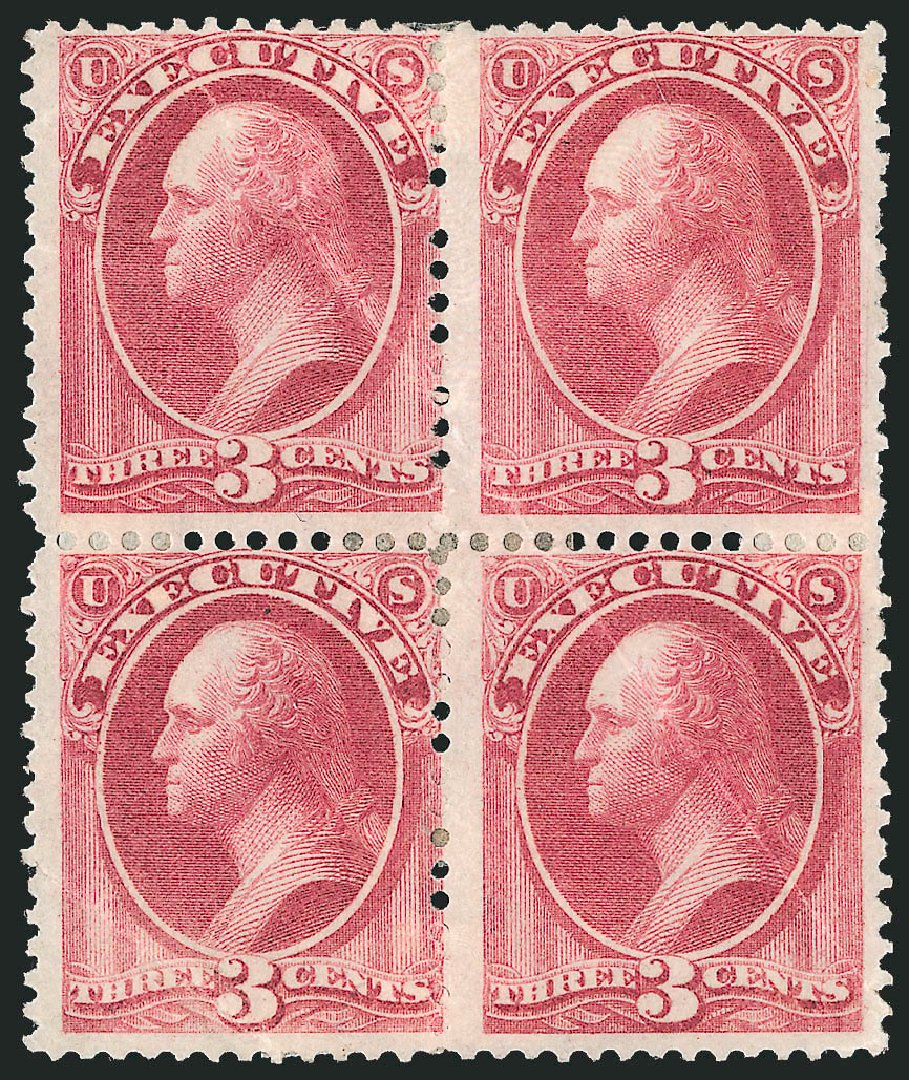 Cost of US Stamps Scott Catalog # O12: 3c 1873 Executive Official. Robert Siegel Auction Galleries, Nov 2014, Sale 1085, Lot 4029