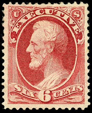 US Stamps Values Scott Catalog # O12: 1873 3c Executive Official. Matthew Bennett International, May 2008, Sale 327, Lot 280