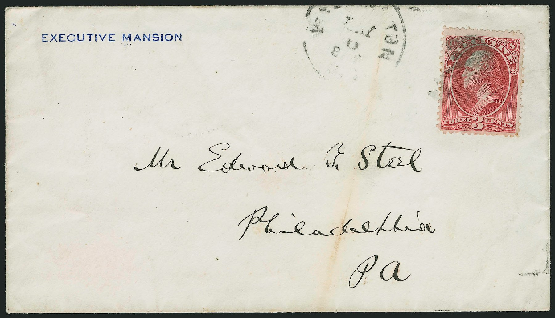 US Stamps Prices Scott Catalog #O12 - 3c 1873 Executive Official. Robert Siegel Auction Galleries, Dec 2014, Sale 1090, Lot 1665