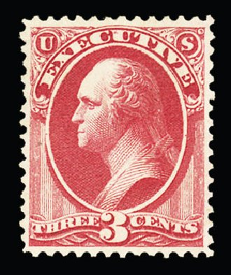 US Stamp Price Scott Cat. #O12: 3c 1873 Executive Official. Cherrystone Auctions, Jul 2015, Sale 201507, Lot 2213