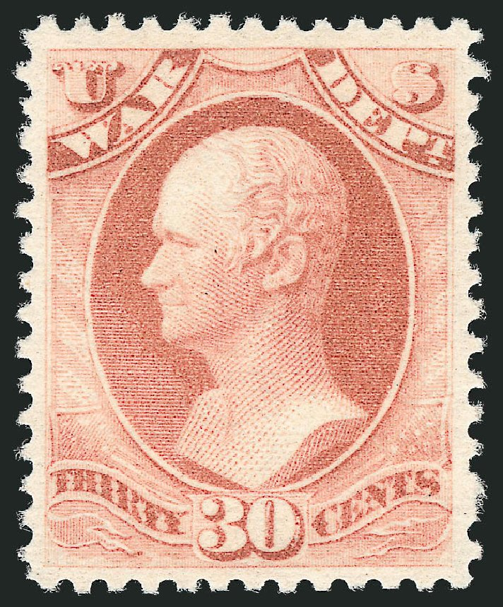 US Stamp Price Scott # O120 - 1879 30c War Official. Robert Siegel Auction Galleries, Oct 2012, Sale 1033, Lot 4321