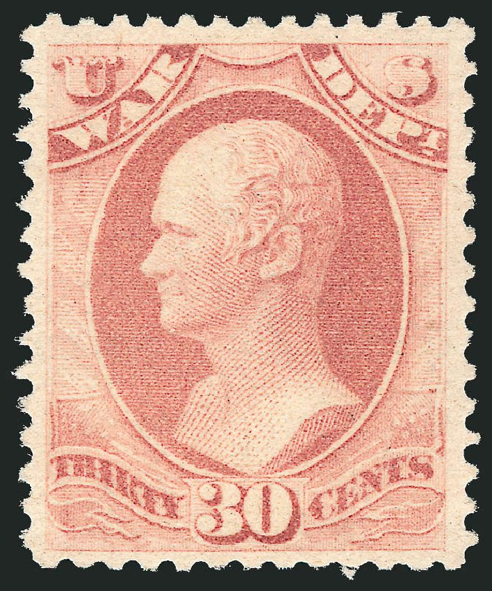 US Stamp Prices Scott Catalog #O120 - 30c 1879 War Official. Robert Siegel Auction Galleries, Nov 2013, Sale 1061, Lot 4195