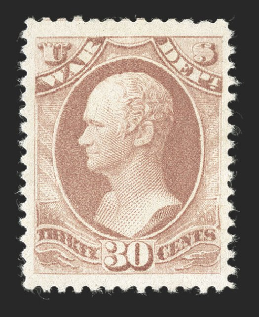 Costs of US Stamps Scott Catalogue #O120: 1879 30c War Official. Spink Shreves Galleries, Jul 2012, Sale 140, Lot 385