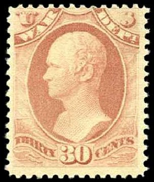 Value of US Stamp Scott Catalogue #O120: 1879 30c War Official. Harmer-Schau Auction Galleries, Apr 2008, Sale 77, Lot 142