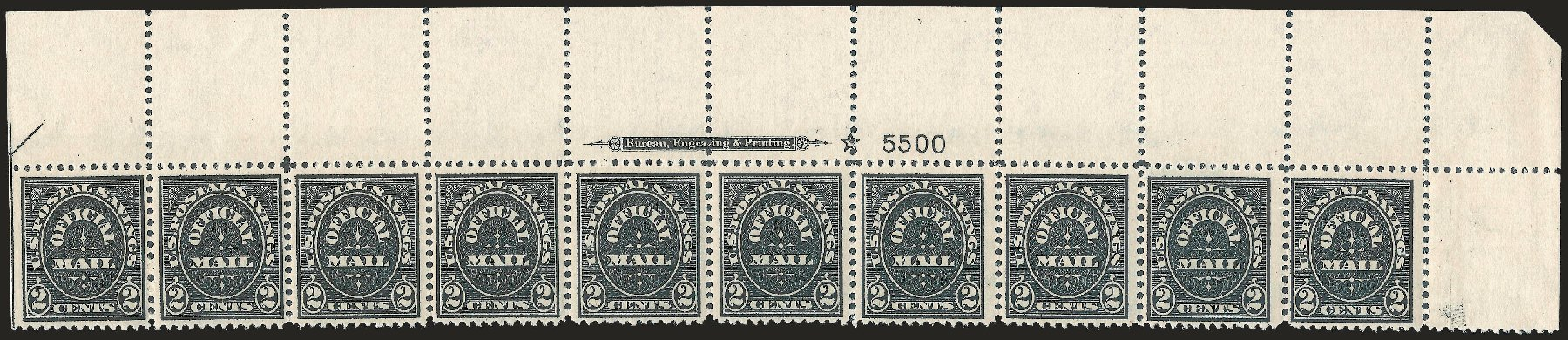 US Stamp Prices Scott # O121 - 1910 2c Postal Savings Official. Robert Siegel Auction Galleries, Jun 2010, Sale 991, Lot 1476