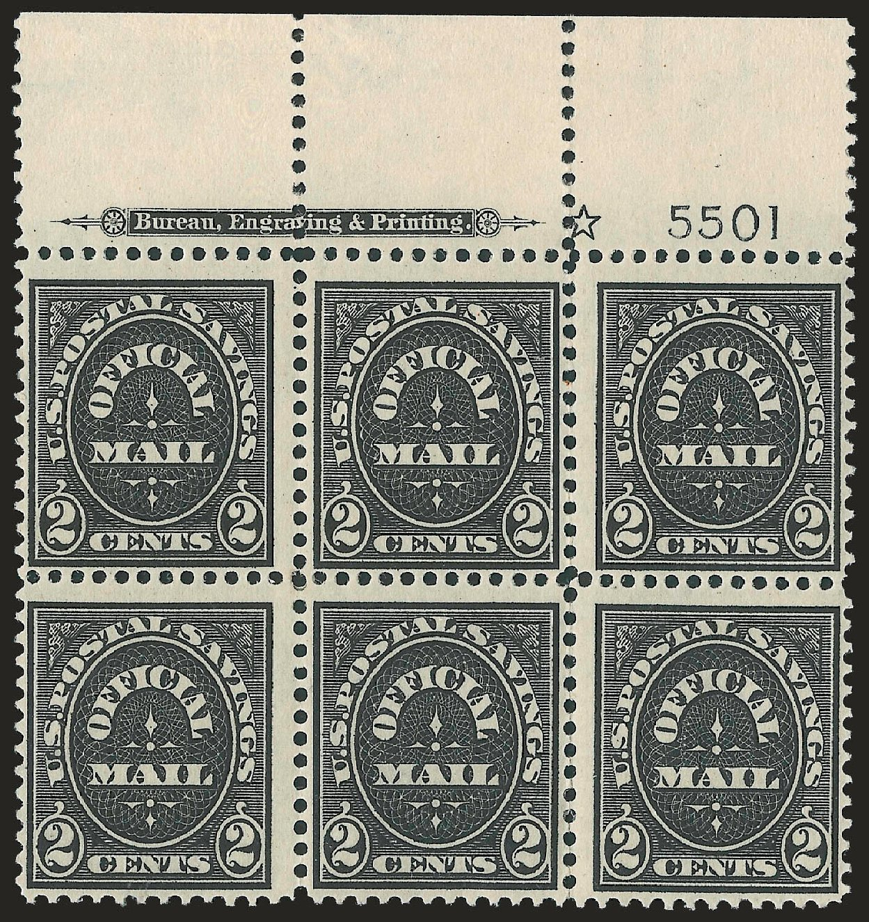 US Stamp Values Scott #O125: 2c 1910 Postal Savings Official. Robert Siegel Auction Galleries, Jun 2010, Sale 991, Lot 1489