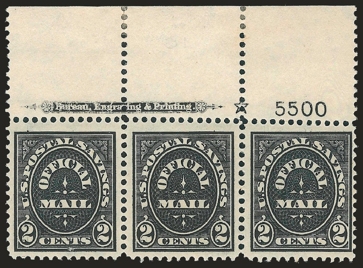 US Stamp Value Scott Catalogue #O125 - 1910 2c Postal Savings Official. Robert Siegel Auction Galleries, Jun 2010, Sale 991, Lot 1491