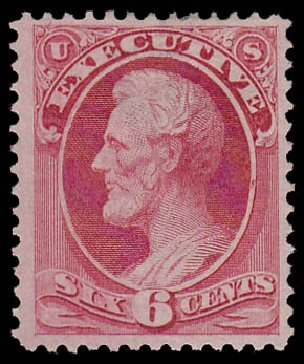Cost of US Stamps Scott # O13: 6c 1873 Executive Official. Daniel Kelleher Auctions, Jan 2015, Sale 663, Lot 2147