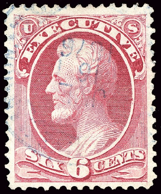 Costs of US Stamp Scott # O13: 6c 1873 Executive Official. Spink Shreves Galleries, Jan 2014, Sale 146, Lot 527