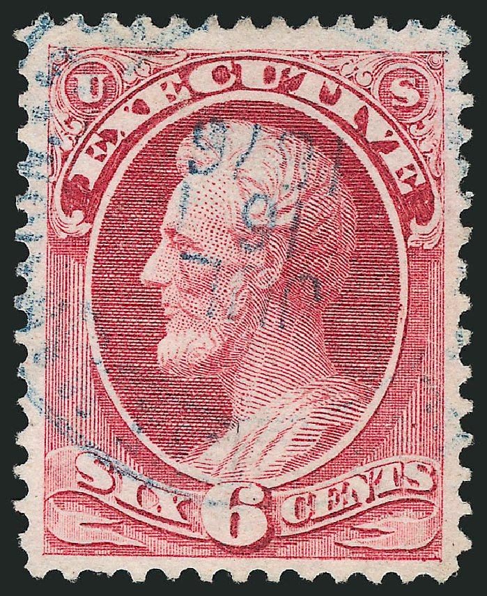 US Stamps Value Scott Catalogue O13 - 6c 1873 Executive Official. Robert Siegel Auction Galleries, Sep 2014, Sale 1078, Lot 660