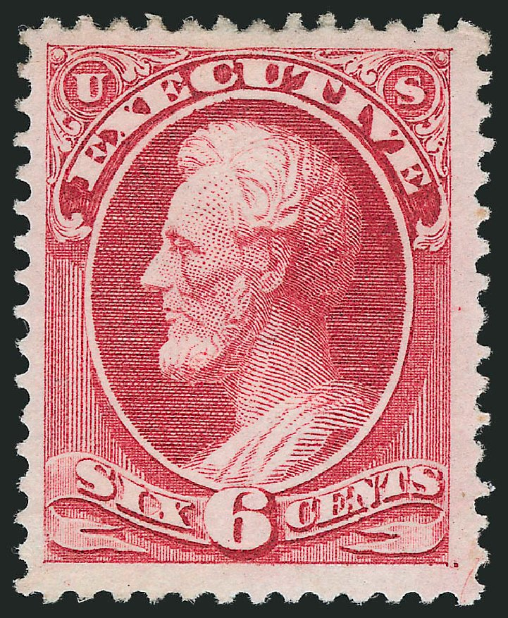Cost of US Stamp Scott Cat. O13 - 6c 1873 Executive Official. Robert Siegel Auction Galleries, Nov 2014, Sale 1085, Lot 4030