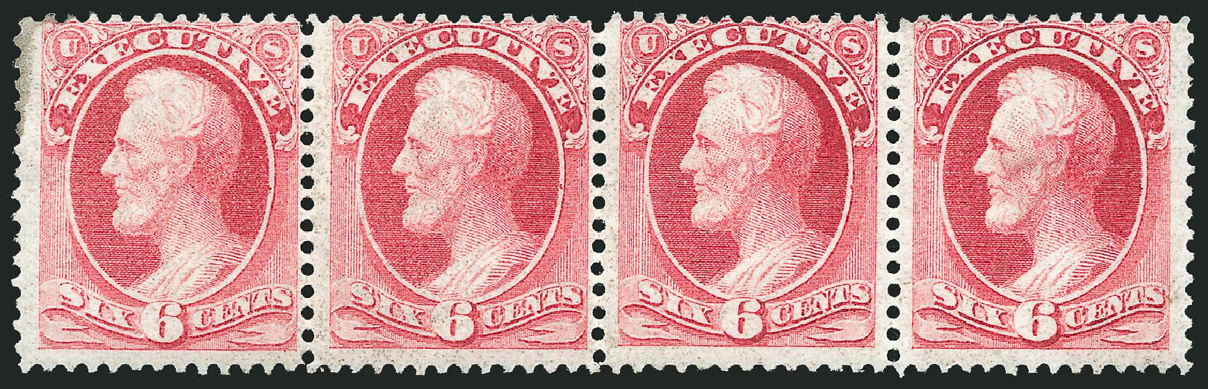 Costs of US Stamps Scott Cat. #O13: 6c 1873 Executive Official. Robert Siegel Auction Galleries, Nov 2014, Sale 1085, Lot 4031