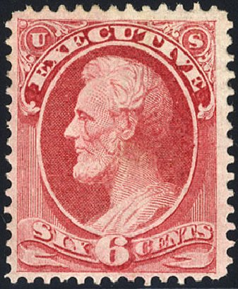 Costs of US Stamps Scott Cat. #O13 - 1873 6c Executive Official. Cherrystone Auctions, Jan 2009, Sale 200901, Lot 274