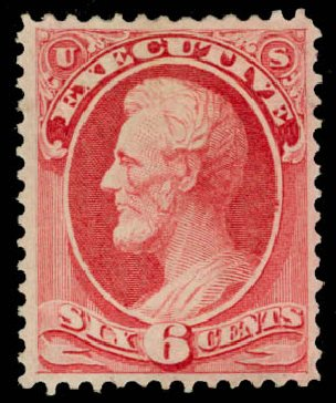 US Stamp Values Scott Catalog #O13: 1873 6c Executive Official. Daniel Kelleher Auctions, May 2015, Sale 669, Lot 3342