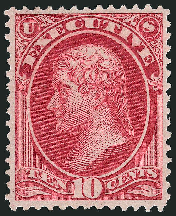 US Stamps Values Scott Catalogue # O14 - 10c 1873 Executive Official. Robert Siegel Auction Galleries, Jun 2009, Sale 975, Lot 2228