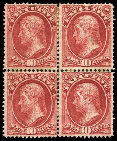 US Stamps Prices Scott O14: 1873 10c Executive Official. Matthew Bennett International, Mar 2011, Sale 337, Lot 3170