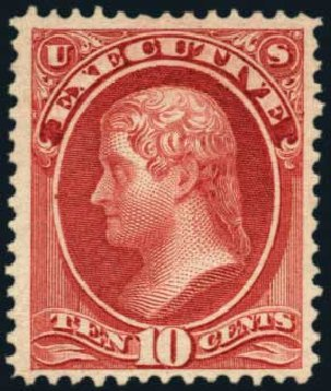 Price of US Stamp Scott O14: 10c 1873 Executive Official. Harmer-Schau Auction Galleries, Aug 2012, Sale 94, Lot 1800
