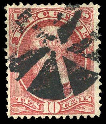 US Stamp Value Scott Catalogue O14 - 10c 1873 Executive Official. Matthew Bennett International, Mar 2011, Sale 337, Lot 3171