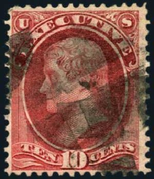 Value of US Stamps Scott Catalog #O14: 1873 10c Executive Official. Harmer-Schau Auction Galleries, Aug 2012, Sale 94, Lot 1801
