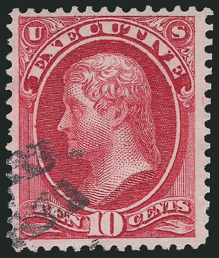 US Stamps Value Scott Cat. O14: 10c 1873 Executive Official. Robert Siegel Auction Galleries, Nov 2014, Sale 1085, Lot 4034