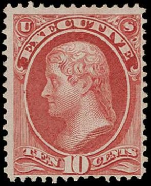 US Stamps Prices Scott Catalogue # O14 - 1873 10c Executive Official. H.R. Harmer, Jun 2015, Sale 3007, Lot 3485