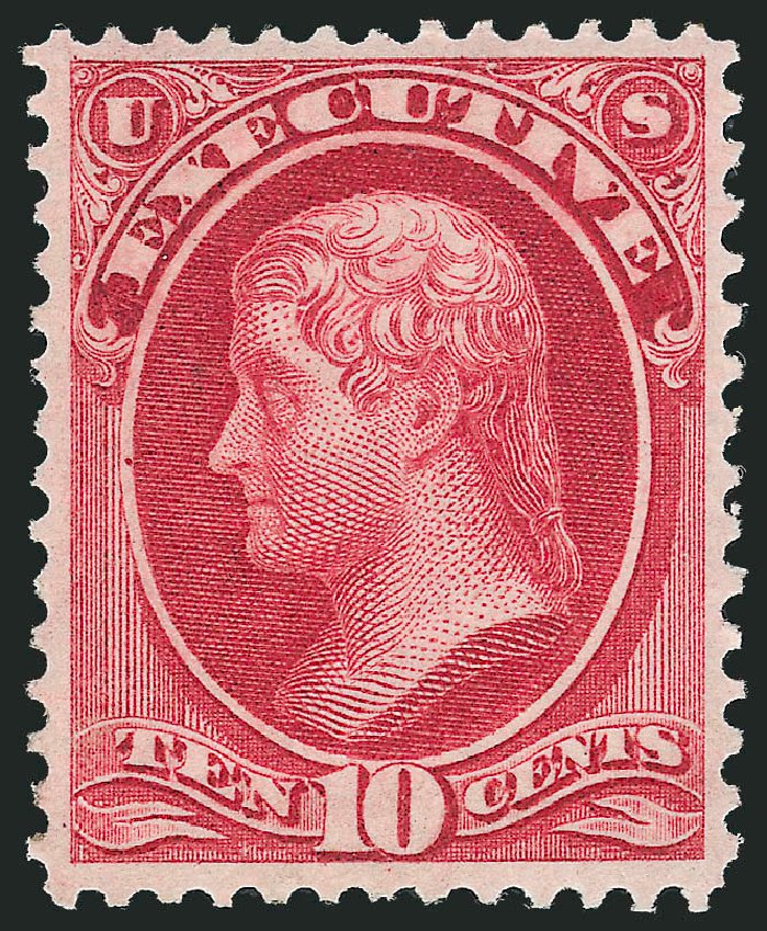 Price of US Stamps Scott Catalogue # O14: 1873 10c Executive Official. Robert Siegel Auction Galleries, Oct 2012, Sale 1033, Lot 4305