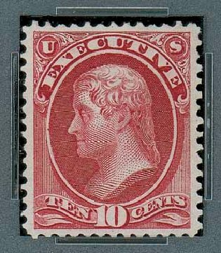 US Stamps Price Scott Cat. #O14 - 10c 1873 Executive Official. Matthew Bennett International, Oct 2007, Sale 322, Lot 2312