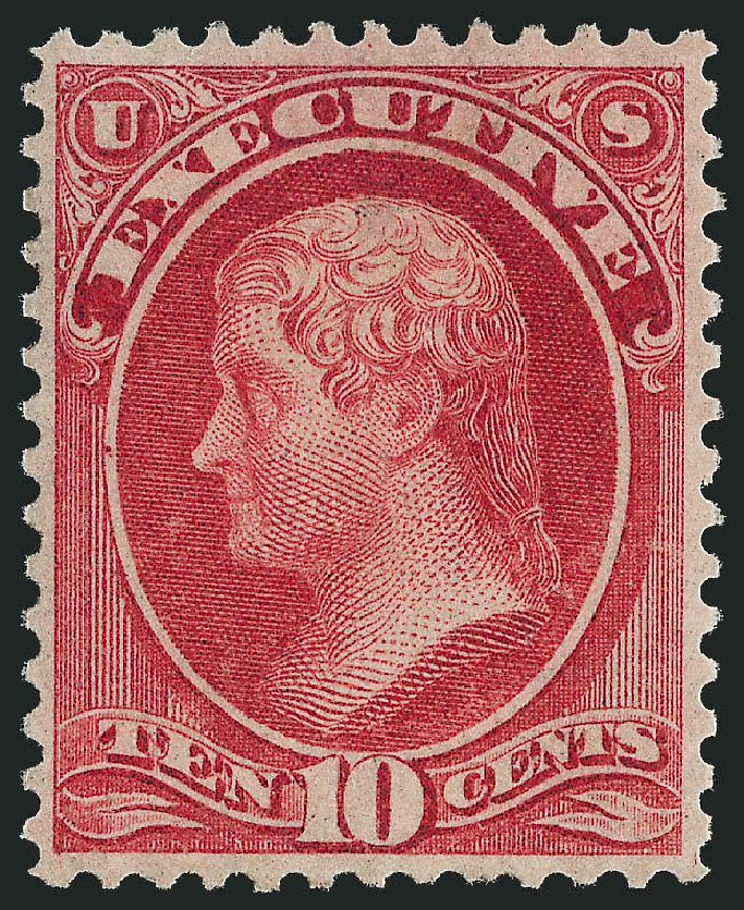 Costs of US Stamp Scott Catalogue # O14 - 10c 1873 Executive Official. Robert Siegel Auction Galleries, Nov 2013, Sale 1061, Lot 4152