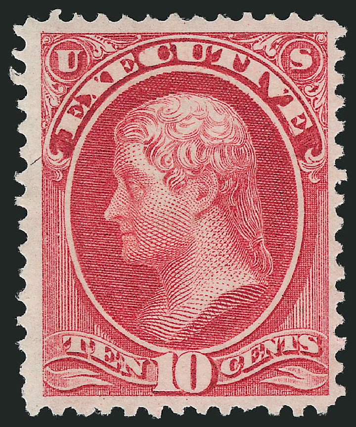 Prices of US Stamp Scott Cat. # O14 - 1873 10c Executive Official. Robert Siegel Auction Galleries, Nov 2014, Sale 1085, Lot 4032