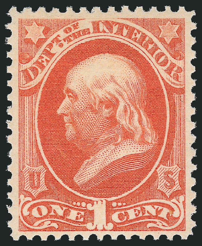 US Stamps Price Scott Catalog #O15 - 1873 1c Interior Official. Robert Siegel Auction Galleries, Dec 2012, Sale 1037, Lot 2327