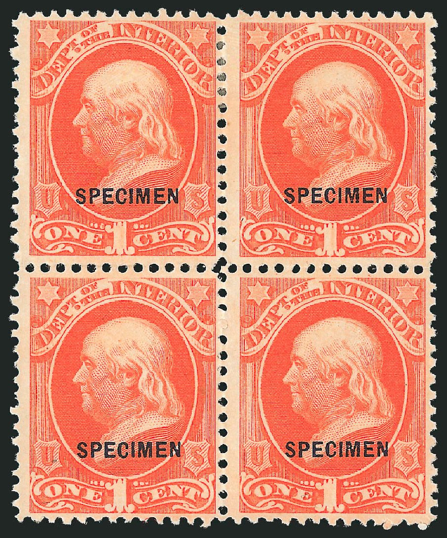 US Stamp Price Scott Catalog #O15: 1873 1c Interior Official. Robert Siegel Auction Galleries, Mar 2015, Sale 1095, Lot 547